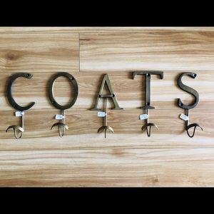 "Brand new! Anthropologie individual ""coat"" hooks"